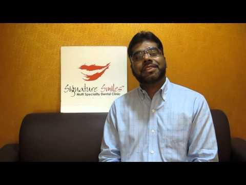 Dr. Naveed Ahmed from Saudi Arabia at Signature Smiles.