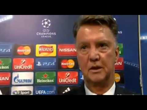 LOUIS VAN GAAL POST MATCH INTERVIEW VS WOLFSBURG   UEFA CHAMPIONS LEAGUE  1 10 15 HD