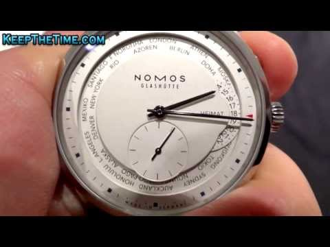 NOMOS Glashutte Zürich Weltzeit World Time Watch Hands-On (KeepTheTime Quickie)