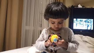Ananya moment's new toy