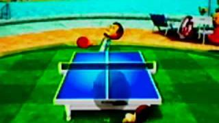 Wii Sports Resort - Table Tennis / Tischtennis - Niveau 2500 2000 1500 Pro Champion