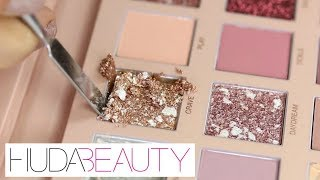 HUDA BEAUTY NEW NUDES - Weighing, Destroying & Re-Pressing | THE MAKEUP BREAKUP