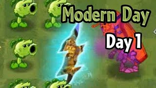 Plants vs Zombies 2 - Modern Day - Day 1: Portals