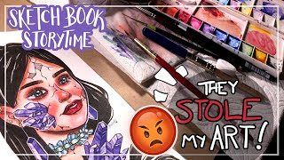My Art Was Stolen By an Online Store... and I Hired a Lawyer!   Sketchbook Storytime