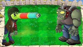 Plants vs Zombies Hack - Gatling Pea Zombie vs Dr. Zomboss