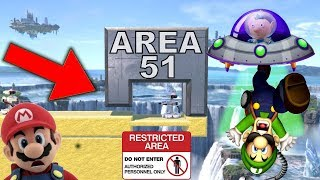 Super Smash Bros. Ultimate - Who Can Break Into Area 51 To See Them Aliens?