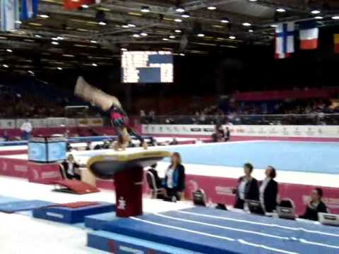 Sandra IZBASA ROU Senior Qualification, European Gymnastics Championships 2012 Vault 2