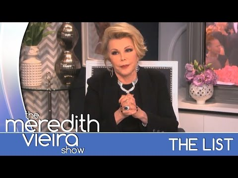 Giuliana Rancic on Joan Rivers - #TheList | The Meredith Vieira Show