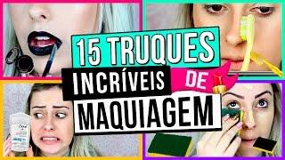 15 TRUQUES DE MAQUIAGEM QUE VOCE PRECISA SABER | Amanda Domenico