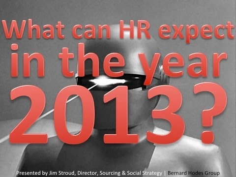 What can HR expect in the year 2013?