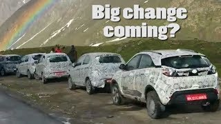 New Tata Models Under Test In The Himalayas   All-new Altroz & Updated Tiago, Tigor & Nexon SUV