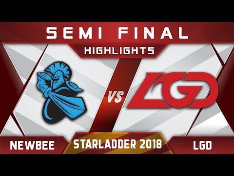 Newbee vs LGD Semi Final Starladder i-League 2018 Highlights Dota 2
