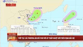 Áp thấp nhiệt đới gần bờ và áp thấp nhiệt đới trên khu vực phía Bắc Biển Đông