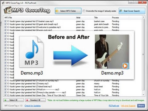 Add your pictures to mp3 songs.