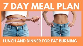 7 day meal plan to lose weight