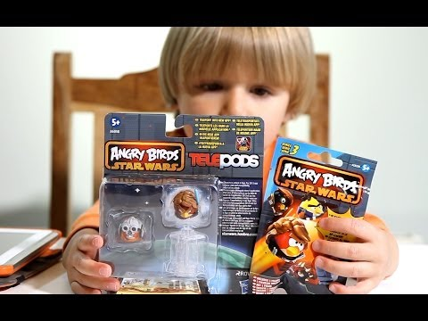 Angry Birds Star Wars 2 TELEPODS and Star Wars II Blind Bag Series 3 !!