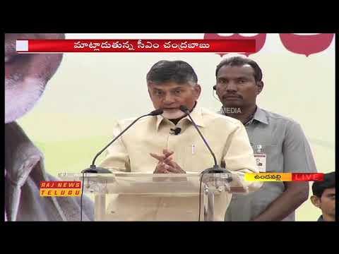 AP CM Chandrababu Naidu Live Speech at Chandranna Pasupu Kumkuma Scheme || Raj News