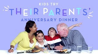 Kids Try Their Parents' Anniversary Dinner | Kids Try | HiHo Kids
