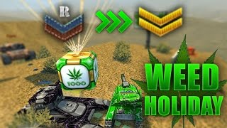 WEED HOLIDAYS + 3 RANK UP IN 30 MIN!!! - Tanki Online
