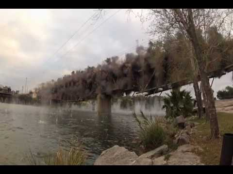 Marble Falls Bridge Implosion!