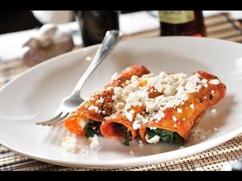 Enchiladas de Espinaca - Recetas de cocina mexicana - Spinach enchiladas
