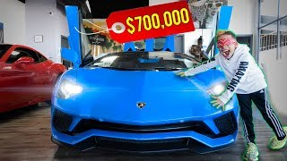 Buying EVERYTHING I TOUCH BLINDFOLDED Challenge **LAMBORGHINI STORE** | The Royalty Family
