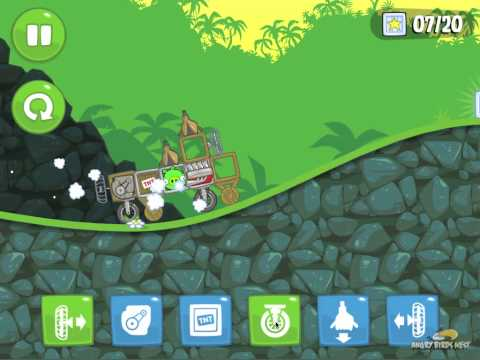Bad Piggies Sandbox S-1 Walkthrough How to Get All 20 Stars - Video