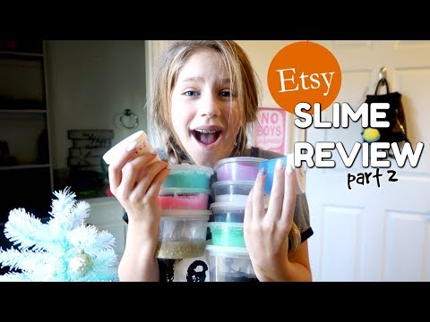 Slime Haul $300 of Etsy Slime Reviews Part 2