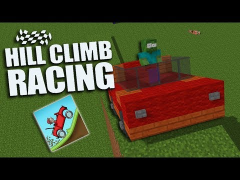 Monster School : HILL CLIMB RACING CHALLENGE - Minecraft Animation
