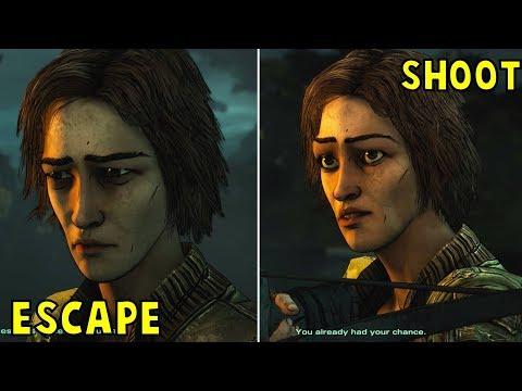 Let Lilly Escape VS Shoot Her Three Times -All Choices- The Walking Dead Season 4 Episode 4