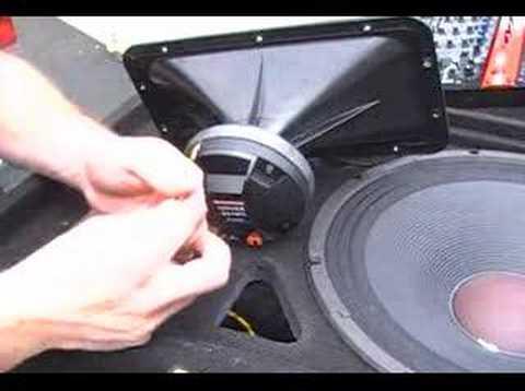 Brian Hot Rods his JBL JRX-115 Top Cabs (Horn Driver)