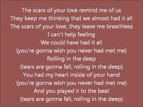 Rolling in the deep Lyrics - Adele - 21 - YouTube