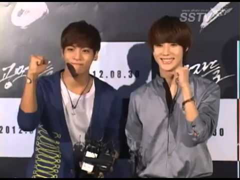 120821 Suho & Chanyeol (EXO-K) with Jonghyun & Taemin (SHINee) - The Traffickers Premiere [SSTV ]