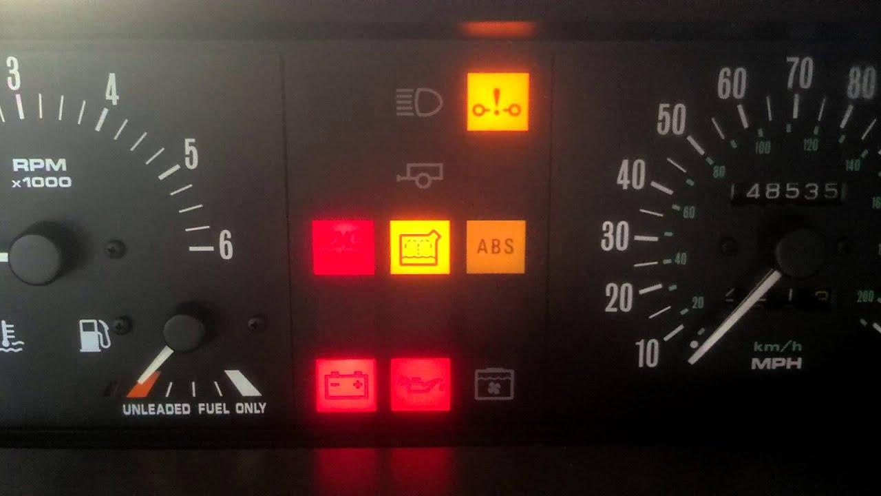 Classic Car Dashboard Warning Lights
