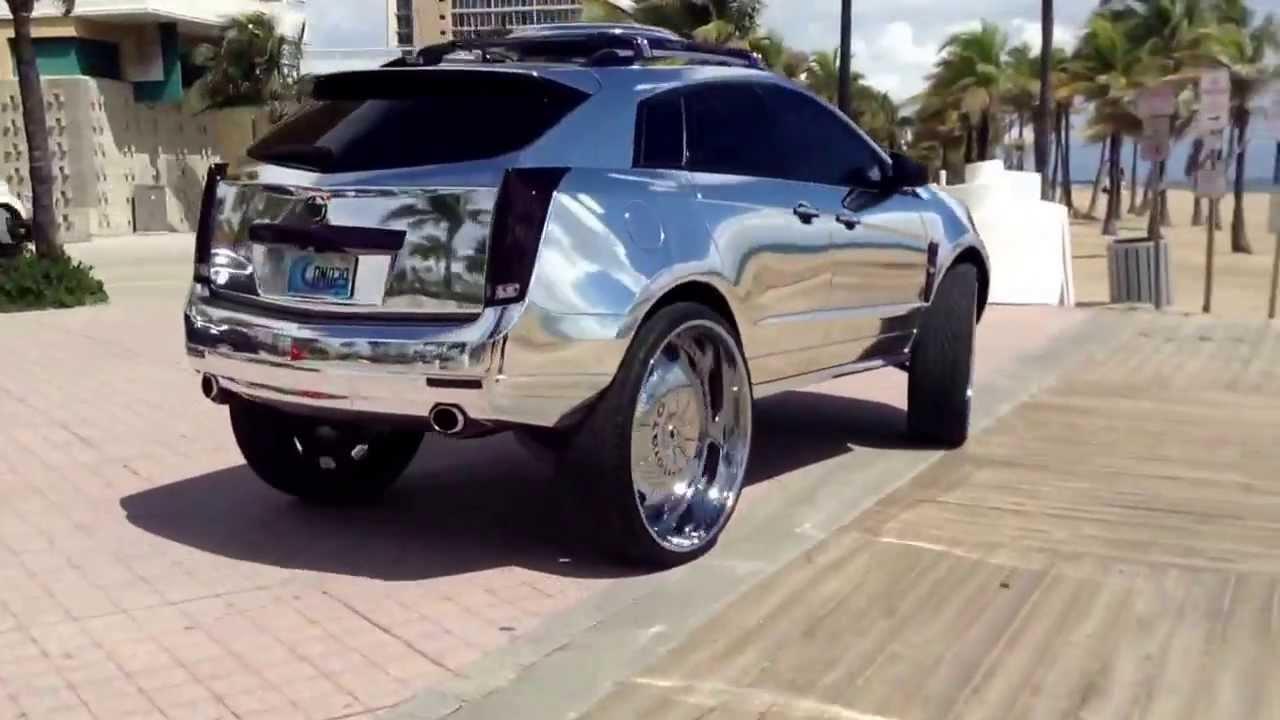 Chrome Cadillac Srx On 32s Forgiato Youtube