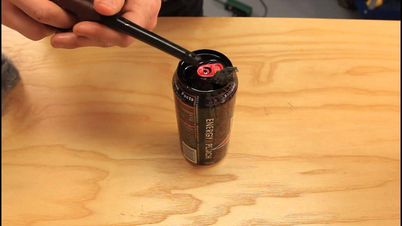 Coke Can Motor Oil Lantern Youtube