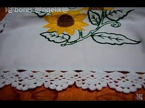 ORILLA O PUNTILLA DE ABANICOS PARTE 1 DE 2 ((GANCHILLO))