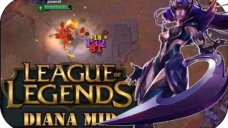 WAHNSINNS BURST!!! DIANA MID | League of Legends Gameplay deutsch