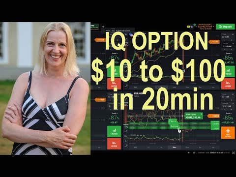 IQ Option - make $100 from $10 deposit in 20 minutes