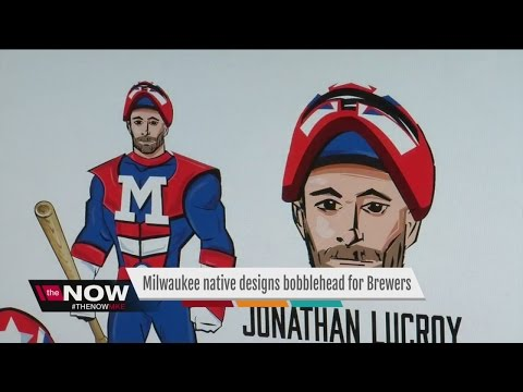 Milwaukee man designs custom Jonathan Lucroy bobblehead for Brewers
