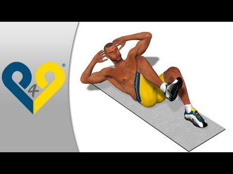 ABS exercise - Alternating Curls to get six pack FAST