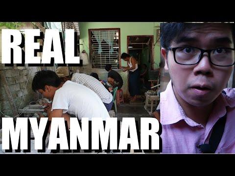 Myanmar Travel - Visiting a Yangon Art Village 2016.
