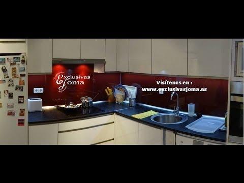 Muebles de cocina en alto brillo con tirador u ero y for Muebles de cocina en oviedo