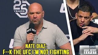 Download Lagu Nate Diaz storms off stage after Conor vs Khabib announcement; UFC Press Conference LA Highlights Gratis STAFABAND