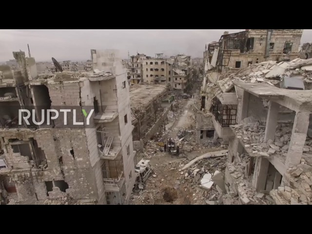 Syria: Drone captures the destruction of Aleppo