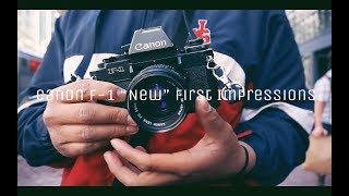 "Canon F-1"" New"" First Impressions (SF Street Photography)"