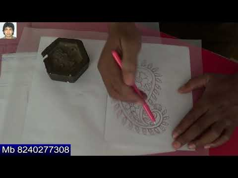 how to create tracing for embroidery design with free hand | manually | so simple method | formal