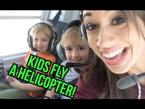 Kids Fly A Helicopter! video