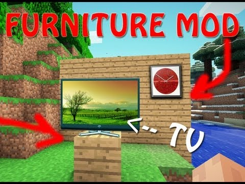 Minecraft 1.8.1 FURNITURE MOD!-Jammy furniture mod review