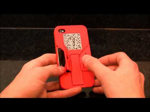 3D Printed iPhone Case with 3 in 1 Built In Stands and a QR Coded Business Card! - TriStand QR